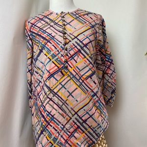 Maeve MULTICOLORED BUTTONED BLOUSE